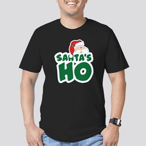 Santa's Ho Men's Fitted T-Shirt (dark)