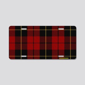 Wallace Tartan Shoulder Bag Aluminum License Plate