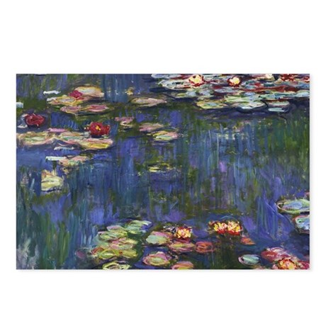 Claude Monet Water Lilies Postcards (Package Of 8)