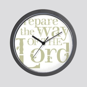 Prepare the Way of the Lord Wall Clock