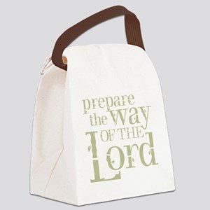 Prepare the Way of the Lord Canvas Lunch Bag