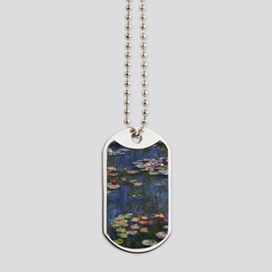Claude Monet Water Lilies Dog Tags