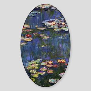 Claude Monet Water Lilies Sticker (Oval)