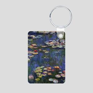 Claude Monet Water Lilies Aluminum Photo Keychain