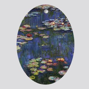 Claude Monet Water Lilies Oval Ornament
