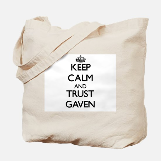 Keep Calm and TRUST Gaven Tote Bag