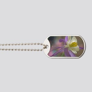 Purple and White Columbine Dog Tags