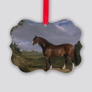 Vintage Painting of Clydesdale St Picture Ornament