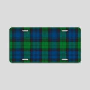 Black Watch Tartan Plaid Aluminum License Plate
