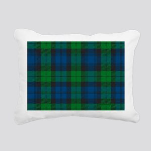 Black Watch Tartan Plaid Rectangular Canvas Pillow