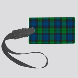 Black Watch Tartan Plaid Large Luggage Tag