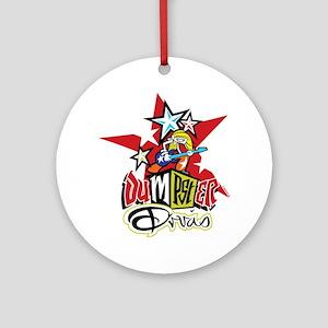 Dumpster Divas Round Ornament