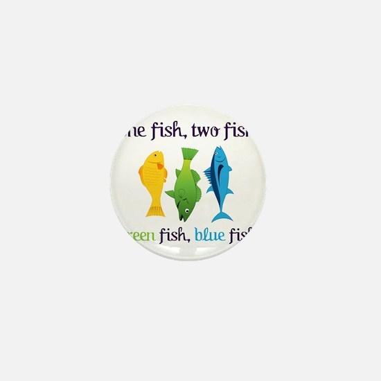 One Fish, Two Fish Mini Button