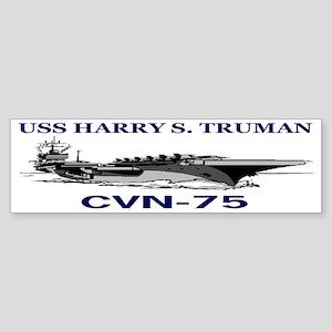 USS HARRY S. TRUMAN CVN-75 Sticker (Bumper)