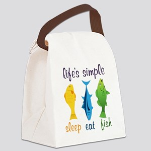 Lifes Simple Canvas Lunch Bag
