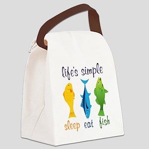 Lifes Simple Canvas Lunch Bag