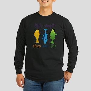 Lifes Simple Long Sleeve Dark T-Shirt