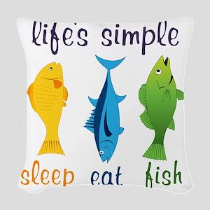 Lifes Simple Woven Throw Pillow