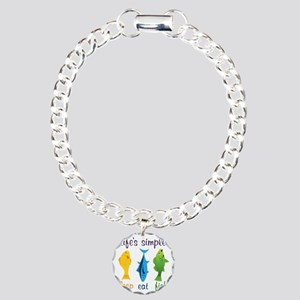 Lifes Simple Charm Bracelet, One Charm