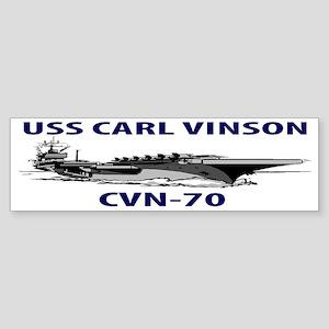 USS CARL VINSON CVN-70 Sticker (Bumper)