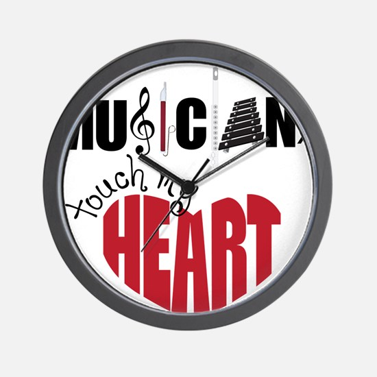 Touch My Heart Wall Clock