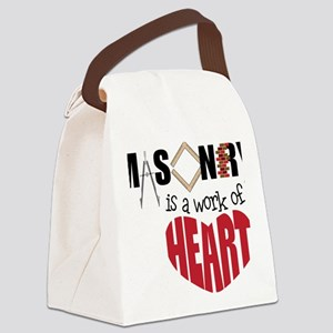 A Work Of Heart Canvas Lunch Bag