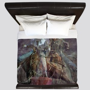 Barrel Racing Competition King Duvet