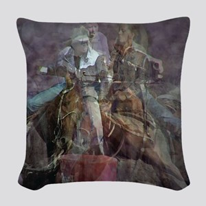 Barrel Racing Competition Woven Throw Pillow