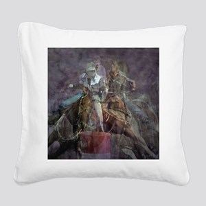 Barrel Racing Competition Square Canvas Pillow