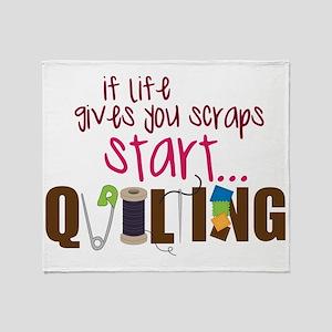 Start Quilting Throw Blanket