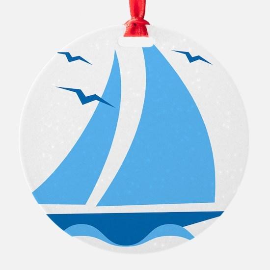 Blue Sailboat Ornament