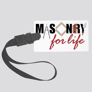 Masonry For Life Large Luggage Tag