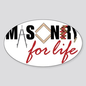 Masonry For Life Sticker (Oval)