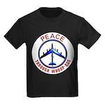 Peace through Whoop-Ass Kids Dark T-Shirt