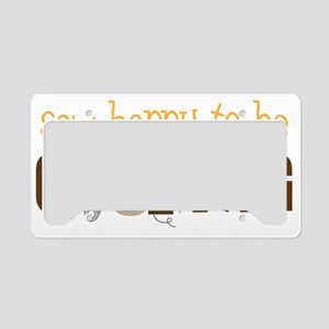 Sew Happy License Plate Holder