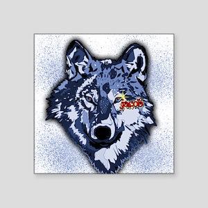 "Twilight Indigo Jacob Wolf Square Sticker 3"" x 3"""