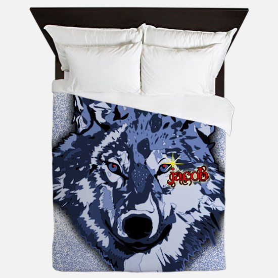 Twilight Indigo Jacob Wolf Queen Duvet