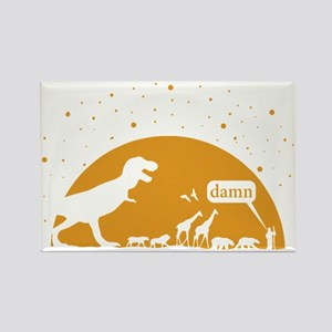 Noah and T-Rex, Witty Rectangle Magnet