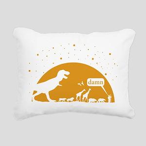 Noah and T-Rex, Witty Rectangular Canvas Pillow
