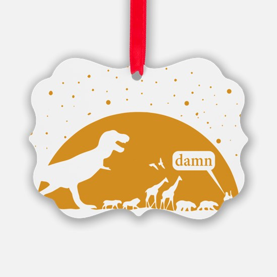 Noah and T-Rex, Witty Ornament