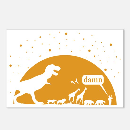 Noah and T-Rex, Witty Postcards (Package of 8)