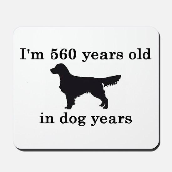 80 birthday dog years golden retriever 2 Mousepad