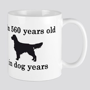 80 birthday dog years golden retriever 2 Mugs