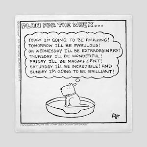 Plan For The Week (Good Morning Monday Queen Duvet