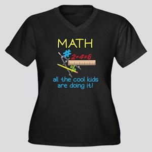 Math Women's Plus Size Dark V-Neck T-Shirt