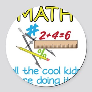 Math Round Car Magnet