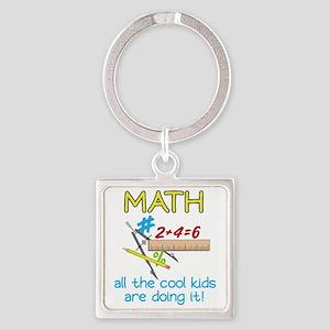 Math Square Keychain