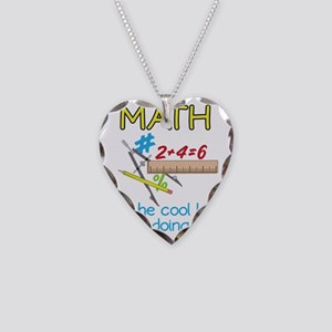 Math Necklace Heart Charm