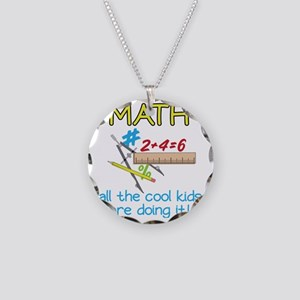 Math Necklace Circle Charm