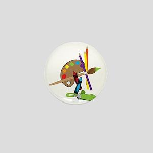 Artist Color Pallet Mini Button